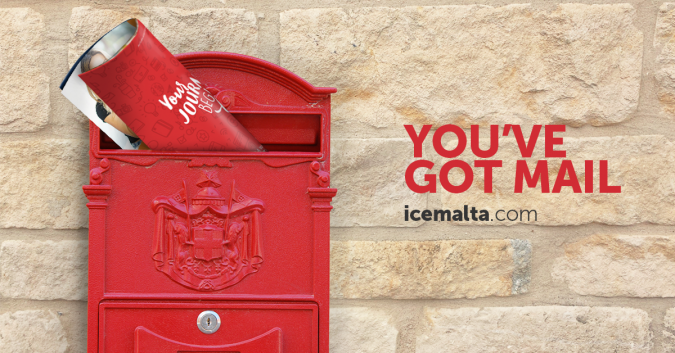 You've got mail – ICE Malta promotional material